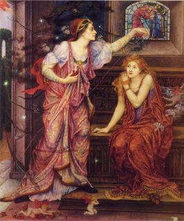 Queen Eleanor and Fair Rosamund, Evelyn De Morgan (1880-1919)