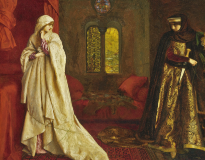 Queen Eleanor and Fair Rosamund, Frank Cadogan Cowper (1920)