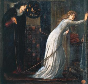 Queen Eleanor and Fair Rosamund, Sir Edward Coley Burn-Jones (1862)