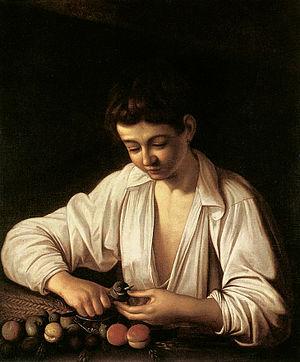 Boy Peeling Fruit (1592)