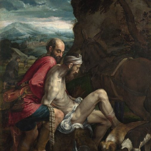 The Good Samaritan by Jacopo Bassano, c.1550-1570