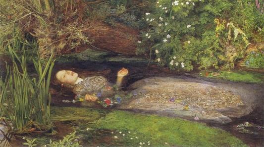 Ophelia by Millais, 1852
