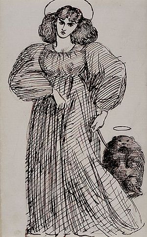 Mrs Morris and the Wombat by Dante Gabriel Rossetti, 1869.