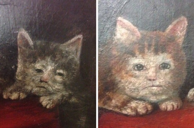 Old Cat Paintings